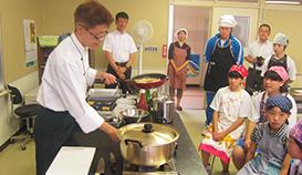 岩手県内の小中学校生向け「食育教室」開催を支援